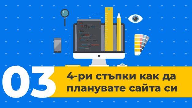 Урок 3 – Изработка на сайтове – 4 стъпки за плануване